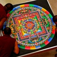 the Mystical Arts of Tibet ~ Mandala Sand Painting