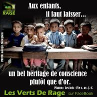 Verts de rage 1- citation Platon