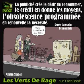 Verts de rage 6 - citation Serge Latouche