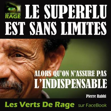 Les verts de rage - Pierre Rabhi - Citation