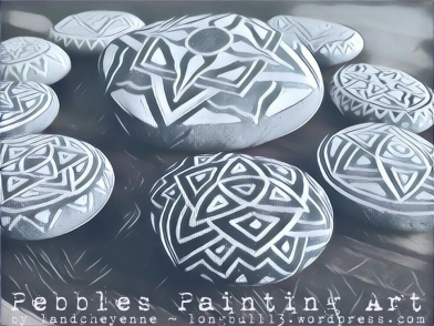Pebbles Painting Art by Landcheyenne